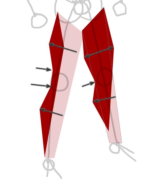 draw vector deadpool photoshop leg muscles