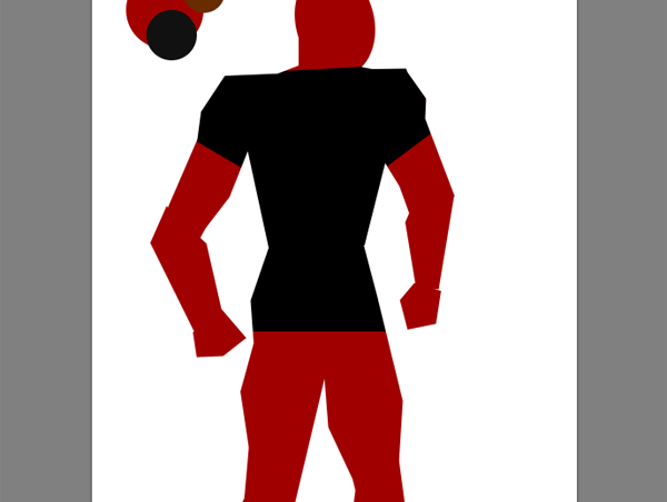 draw vector deadpool photoshop clipped coloring