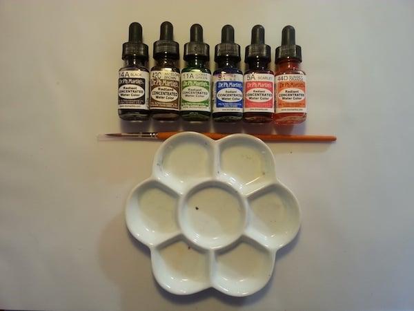 supplies - watercolour ink