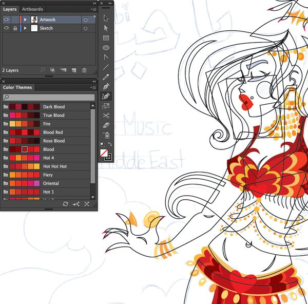 use the pen tool p curvature tool shift and ellipse tool to trace on adobe illustrator cc