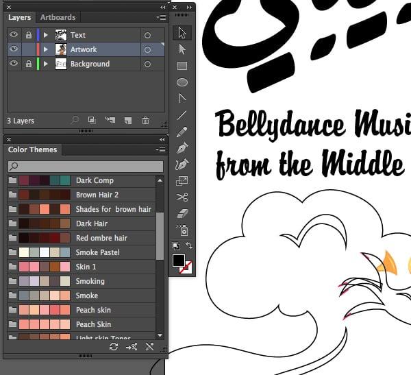 adobe color cc to adobe illustrator cc export color themes saved sync artboard