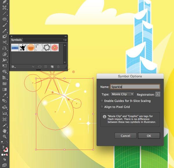 Symbols options Ok sparkle Panel Window transparency Arrange Bring to Front Command Shift Linear angle Stroke Gradient Blending Mode Stroke Color copy paste front back Duplicate Rectangle Selection UAE National Day Poster Sketch Burj Khalifa Sketch Layer