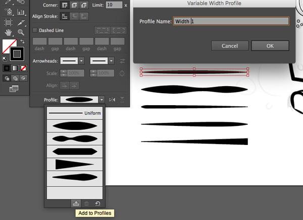 variable width stroke save profile edit save adobe illustrator