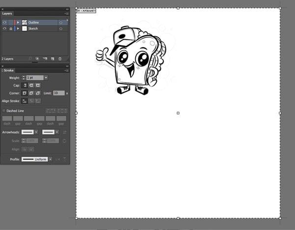 file document artboard setup expand mascot versions display
