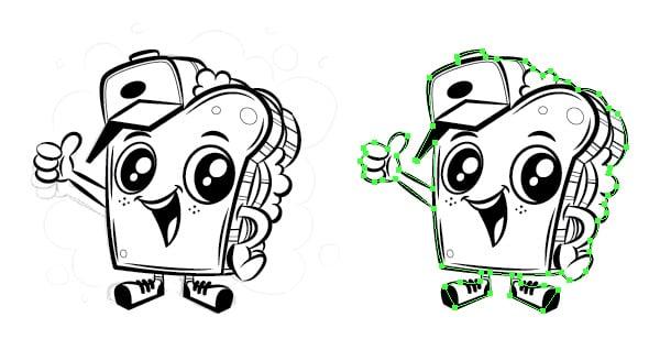 adobe illustrator duplicate white background grey scale mascot