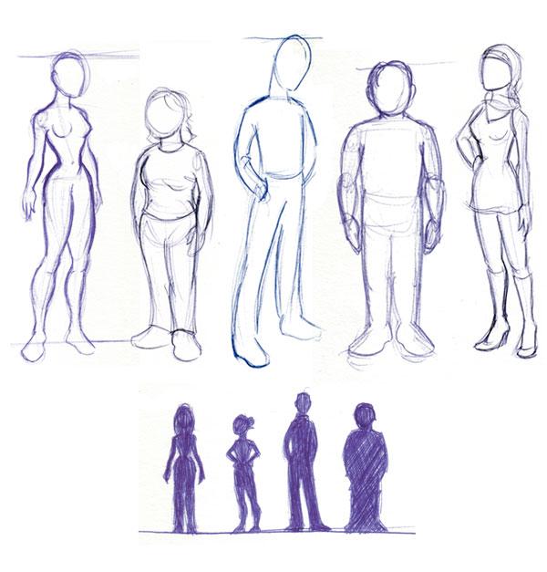 Different postures