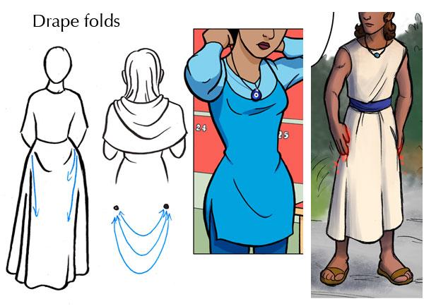 Drape folds