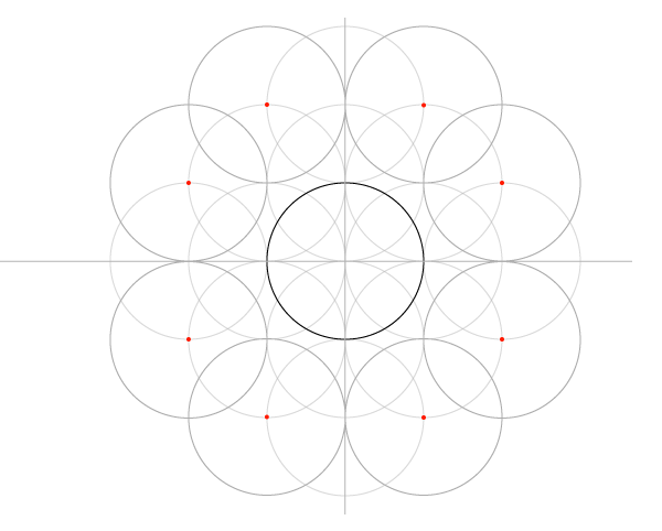 Five-Circle Grid step 7
