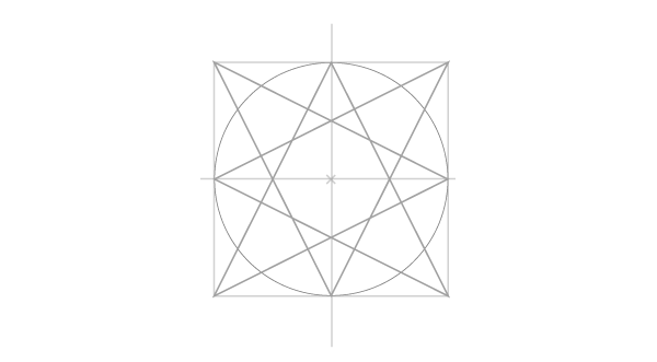 Drawing a four-point star