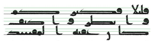Levels in early Kufic