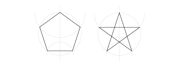 Pentagon and pentagram
