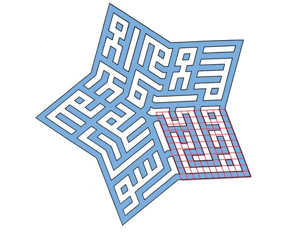 Star combining different skewed grids