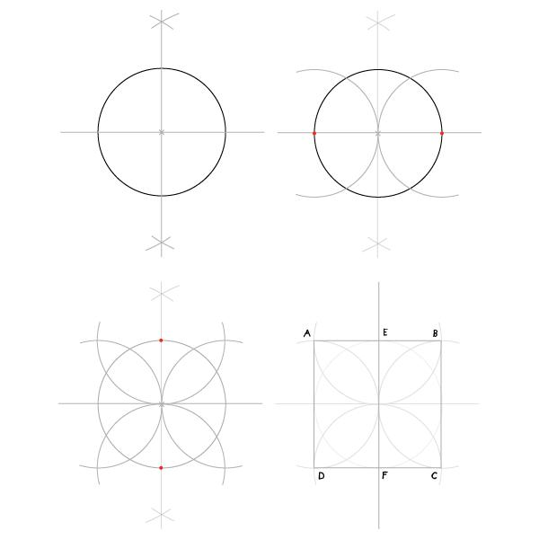 Golden spiral step 1