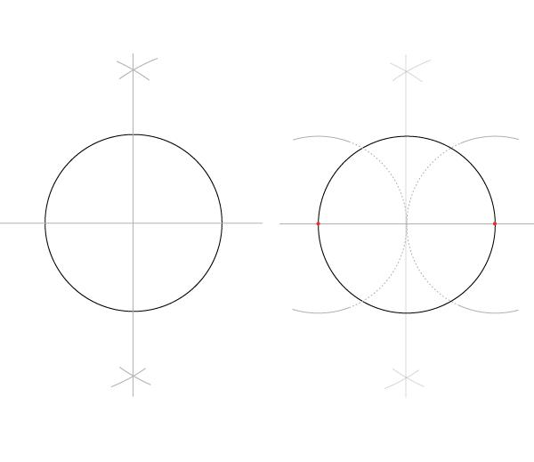 Rosette window step 1
