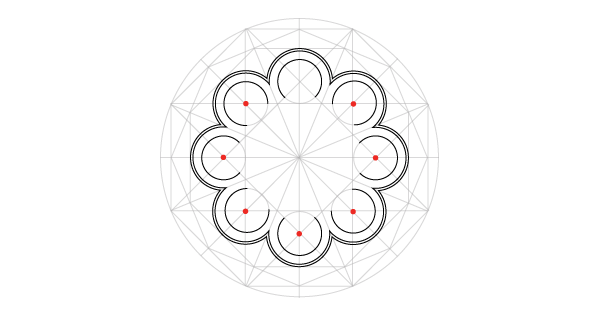 Rosette window step 18