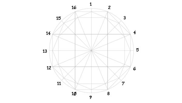 Rosette window step 9