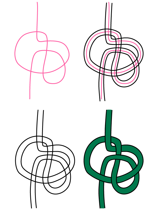 Arabic Calligraphy Embellishments Tutorial Freehand knot