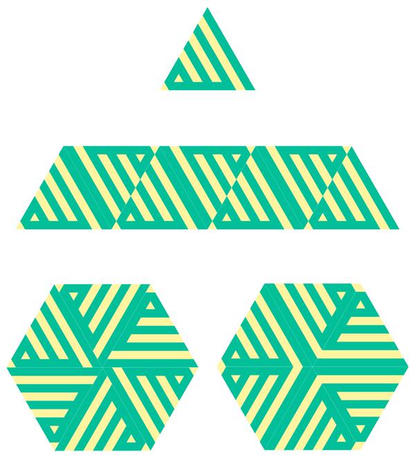 Arabic Calligraphy Ornaments Tutorial Possibilities of triangular tiles