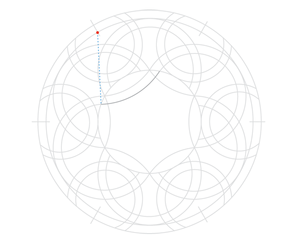 Knot in circle step 11a