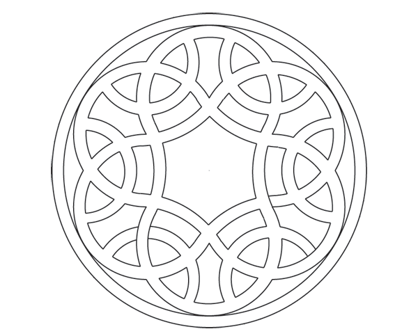 Knot in circle step 12b