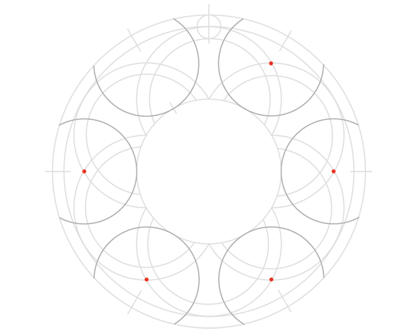 Knot in circle step 7b