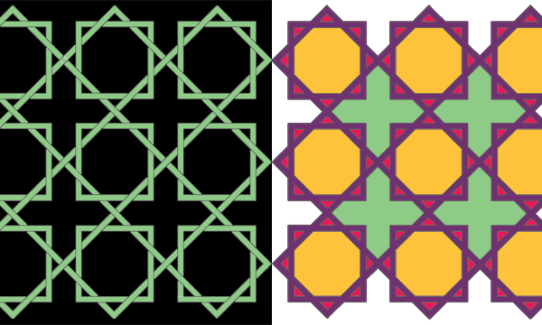 Converted pattern coloured