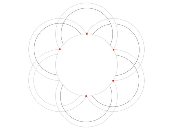 Rose-shaped knot step 2b