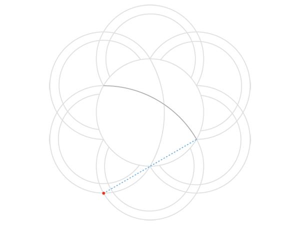 Rose-shaped knot step 3b