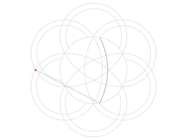 Rose-shaped knot step 4a