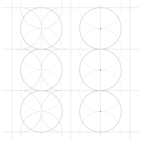 Rosette in rectangle step 11