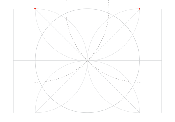 Rosette in rectangle step 13