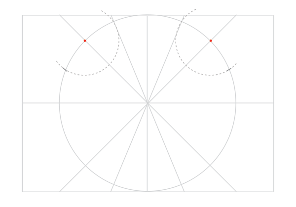 Rosette in rectangle step 15
