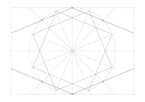 Rosette in rectangle step 18