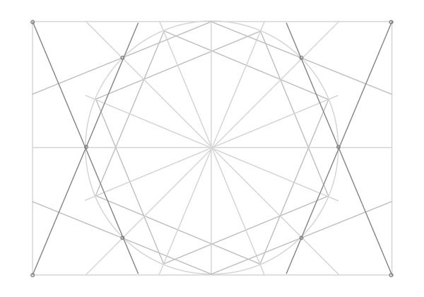 Rosette in rectangle step 19