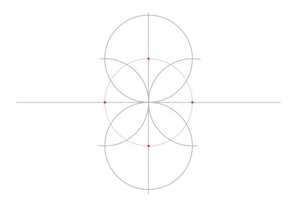 Rosette in rectangle step 2