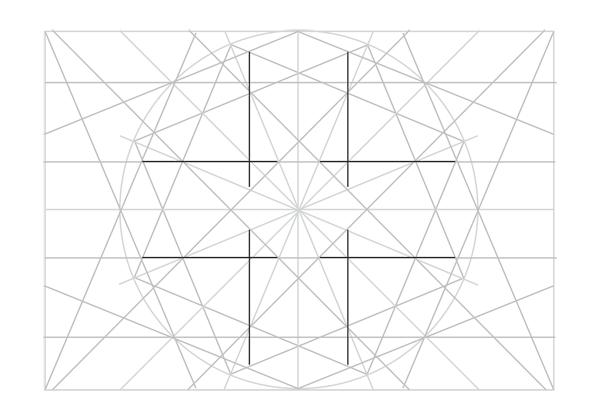 Rosette in rectangle step 22