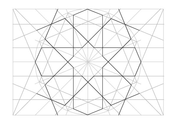 Rosette in rectangle step 24