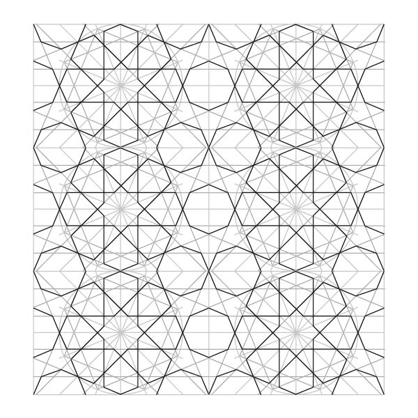 Rosette in rectangle step 27
