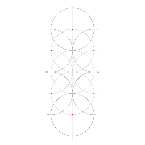 Rosette in rectangle step 3