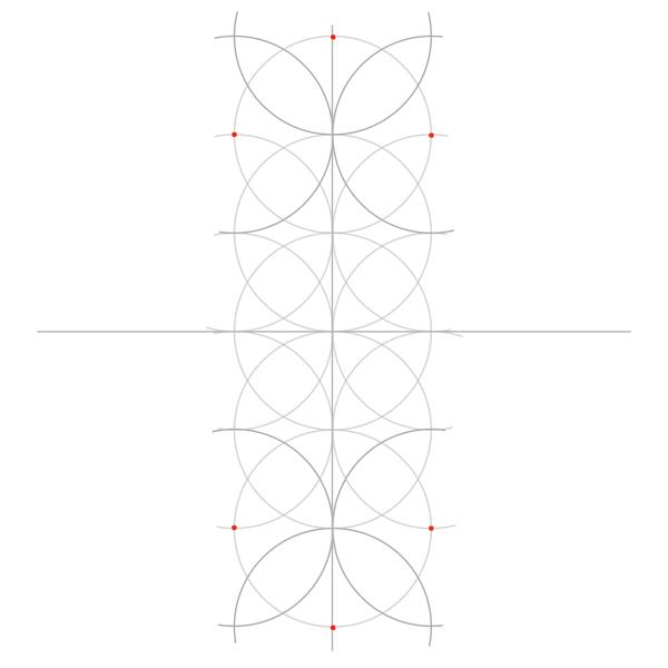 Rosette in rectangle step 4