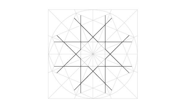 Eightfold rosette step 11