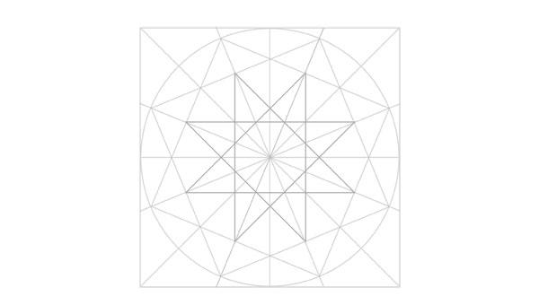Eightfold rosette step 9