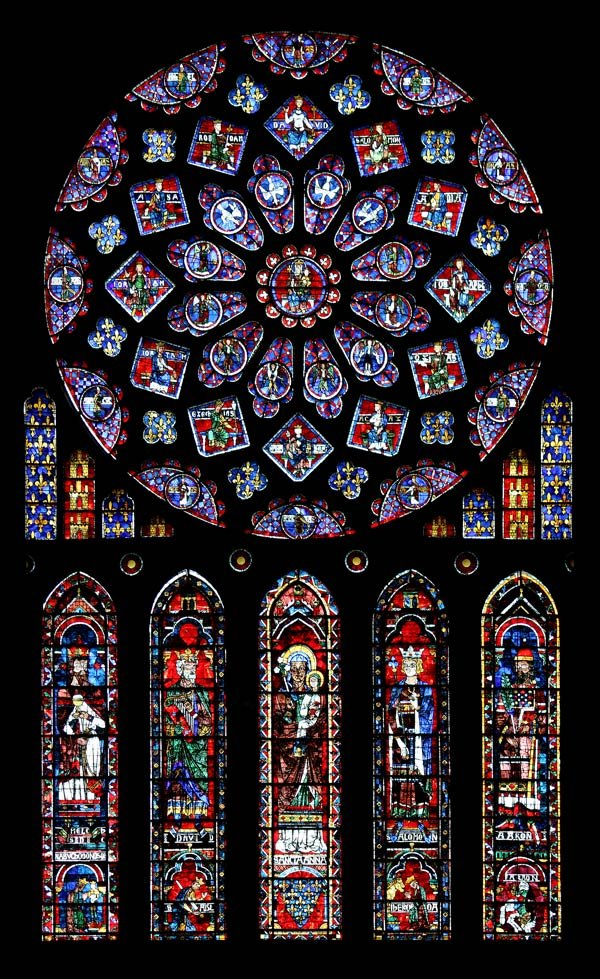 The north transept rose window in Chartres