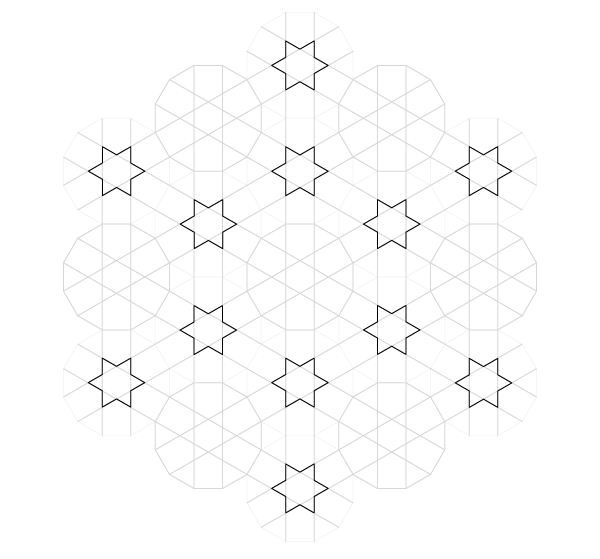 Pattern from the Cordoba Synagogue step 15