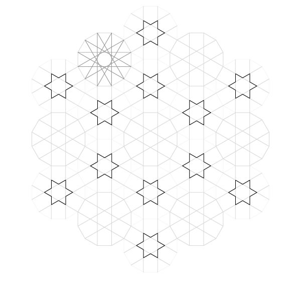 Pattern from the Cordoba Synagogue step 16