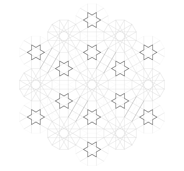 Pattern from the Cordoba Synagogue step 20