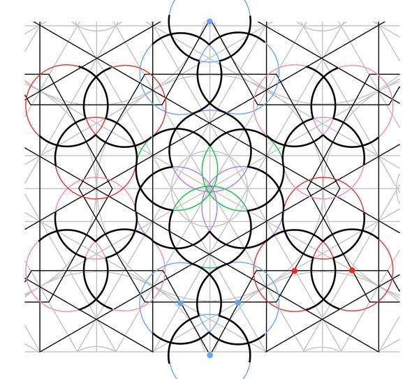 Flowery tiling pattern step 20