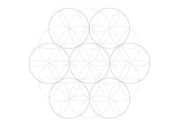 Flowery tiling pattern step 5