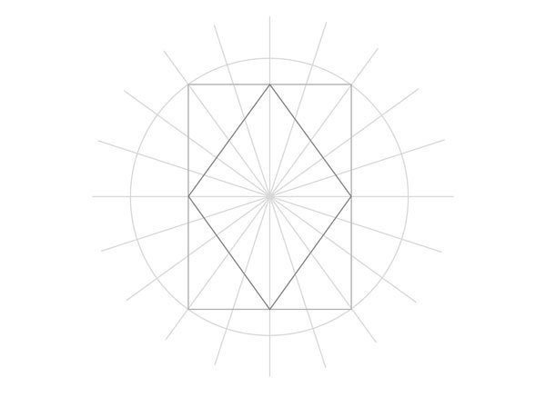 Tenfold Star in a Rectangle step 15