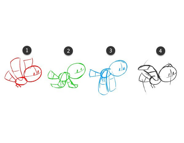 Drawings 1 through 4